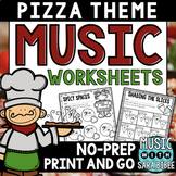Pizza Music Activities- Mega Pack- 46 Pages!