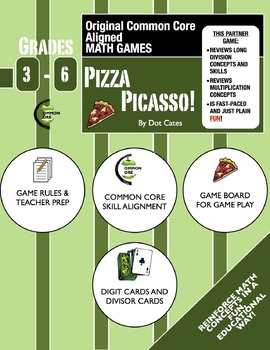 Pizza Picasso!A  Fast-Paced Common Core Aligned Long Divis