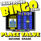 Place Value Bingo with Interactive Whiteboard Option