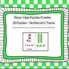 Place Value Freebie - Skateboard theme