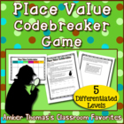 Place Value Game to Hundred Thousands: Codebreaker
