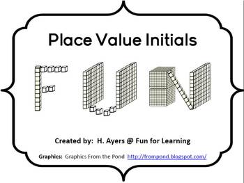 Place Value Initials - Back to School Activity