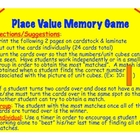 Place Value Math Centers Game