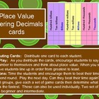 Place Value - Ordering Decimals Flashcards and Lining Up Activity