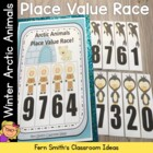 Place Value Race Arctic Winter Animals By Fern Smith