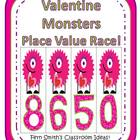 Place Value Race Game Valentine Monsters By Fern Smith!