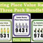 Place Value Race Center Games Spring Three Pack Discounted Bundle
