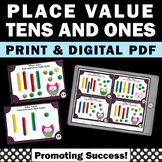 Place Value Tens Ones Math Task Cards Games SCOOT 1st Grad