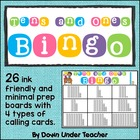 Place Value Tens and Ones Bingo Math Game