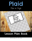 Plaid Lesson Plan Book: Plan in Style