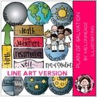 Plan of salvation LINE ART bundle by melonheadz