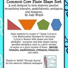 Plane Shape Sort: Triangles, Quadrilaterals, Pentagons, an