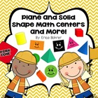 Plane and Solid Shape Math Centers and More