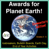 Planet Earth Awards, Plant and Animal Facts, Activity Worksheets