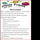 Planet Project (Scrapbook / Gameboard)