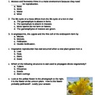 Plant Reproduction Quiz 1
