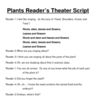 Plants Reader's Theater Script