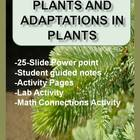 Plants and Plant Adaptations Power point and Related Activities