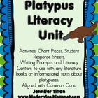 Platypus Literacy Unit-Activities, Chart Pieces and More (