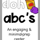Play Doh Alphabet Mats