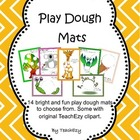 Play Dough Mats Preschool/Kindergarten