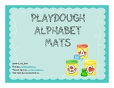 Playdough Alphabet Letter Mats - Uppercase and Lowercase