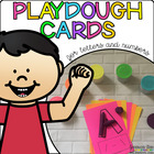Playdough Cards for Letters and Numbers