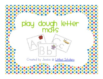 Playdough Letter Mats [Freebie]