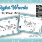 Playdough Mats - ALL Sight Words with lines