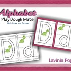 Playdough Mats - Alphabet with lines