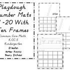 Playdough Number Mats 1-20 with Ten Frames- D'Nealian Numb