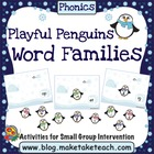 Playful Penguins- Word Families