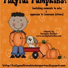 Playful Pumpkins! {matching numerals to sets & uppercase t