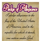 "Pledge of Allegiance Poster 12""x18"" Americana Style"