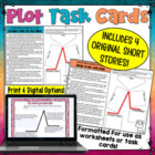 Plot Task Cards or Worksheets - Identify Plot Elements in
