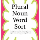 Plural Noun Word Sort