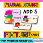 Plural Nouns Picture Cards Activity {add S}