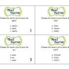 Plural Task Cards/Literacy Center