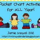 Pocket Chart Activities for ALL Year