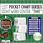Pocket Chart Sight Word Center Football Edition: These