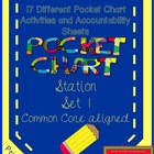 Pocket Chart Station / Center Set 1- 17 activities (common