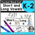 Pocket Sort short/long vowel sounds