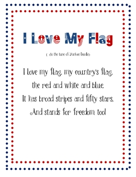 Poem - I Love My Flag