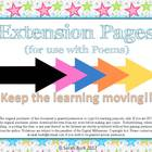 Poem Puzzle Extension Pages - PK, K, 1st, 2nd (Poetry)