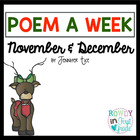 Poem a Week November and December