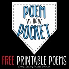 Poem in Your Pocket Day Printable Poems to Celebrate Poetry