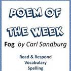 Poem of the Week Activities Fog by Carl Sandburg