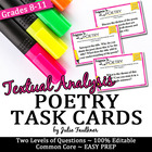 Poetry Analysis Task Cards {Use with ANY Poem} Modern & Engaging