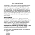 Poetry Book Report Rubric