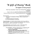 """Poetry Collection Project"" A Project Creating a Poetry Gift Book"